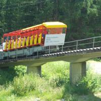 Die Bahn auf dem Weg nach oben
